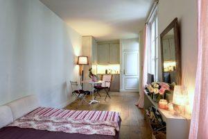 holborn - blog décoration d'intérieur - design d'espace - aménagement studio - vert menthe - Appartement rue des Lions Saint Paul Paris Le Marais