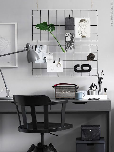 d coration scandinave un coin bureau en noir et blanc holborn. Black Bedroom Furniture Sets. Home Design Ideas