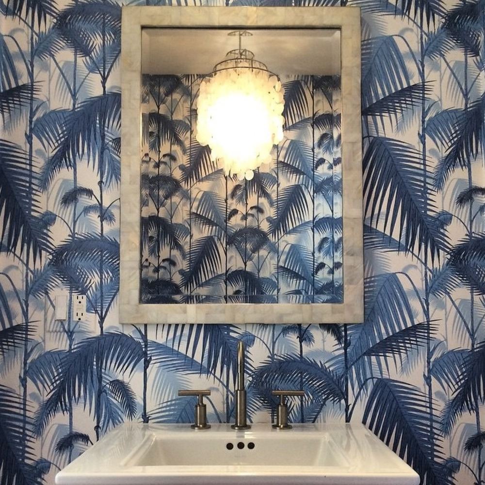Palm Jungle Cole And Son Bleu Holborn Blog Decoration Papier Peint